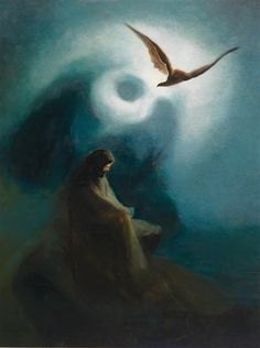 Karl Wilhelm Diefenbach - Helius the Crucified and Crucified Son - Vintage Oil Painting, Owl Art Print, Mystical and Mysterious Wall Poster Vintage Art Prints, Vintage Wall Art, Vintage Posters, Moonlight Painting, Famous Artwork, Black Sails, Les Oeuvres, Art Museum, Oil On Canvas
