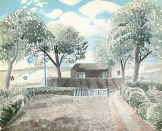 View Aerodrome By Eric Ravilious; pencil and watercolour; x 22 in. Access more artwork lots and estimated & realized auction prices on MutualArt. Watercolor Landscape, Landscape Art, Aberdeen Art Gallery, The English Patient, Photo Illustration, Travel Posters, Garden Art, Statues, Illustrators