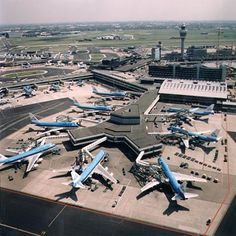 KLM Royal Dutch Airlines Classic 747-206B/SUDs and 747-306Bs at Amsterdam-Schipol International Airport