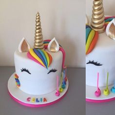 This is the unicorn ...year...season....fashion .....love #unicorncake #unicornthemeparty #unicornlove #modernversion #sugarart #cakeart #neoncolours #chocolatecakewithganache