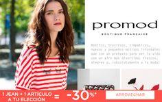 Un 30% de descuento si compras 1 jean + 1 artículo en Promod