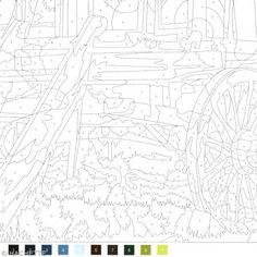 Coloriage mystère pour adulte - Tome 2 - A4 - 100 nouveaux coloriages - Photo n°2