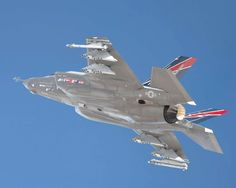 On Feb. an aircraft from Edwards AFB, California, flew for the first time with external weapons. Although no weapons were delivered during the sortie, the payload of the Joint Strik… Military Jets, Military Aircraft, Military Weapons, Air Fighter, Fighter Jets, Edwards Air Force Base, Armed Forces, Denmark, Cool Photos