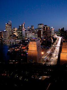 Twilight Climb of the Sydney Harbour Bridge, Sydney, Australia