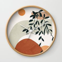 Led Wall Clock, Diy Clock, Pottery Painting, Ceramic Painting, Rose Wall, Wall Clock Design, Wood Clocks, Gifts For Office, Diy Wall Art
