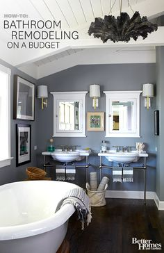 Start with these bathroom remodeling ideas to transform your bathroom into a relaxing retreat: http://www.bhg.com/bathroom/remodeling/?socsrc=bhgpin093013bathroomremodeling