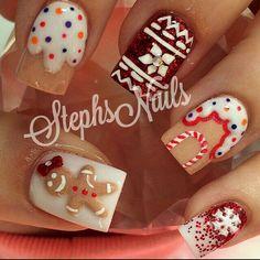 #christmas2015 #xmas #nailart #nails #christmasnails