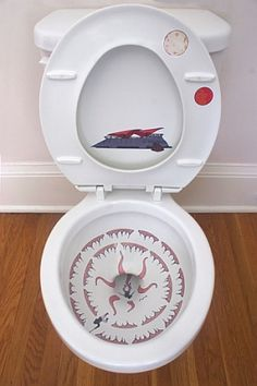Sarlacc toilet. Made possible by custom-printed decals inside your toilet bowl.