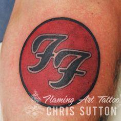 #foofighters #music #logo #band #davegrohl #colour #tattoo #tattoos #custom #design #art #artist #tattooartist #illustration #london #england #chrissutton