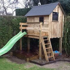 eerste speelhuisje in eigen tuin te kontich