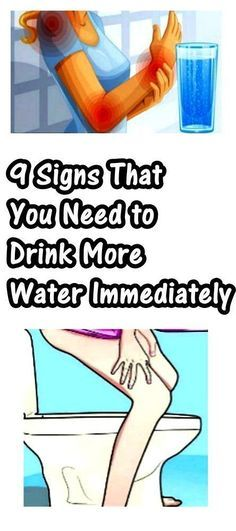 9 Signs That You Need to Drink More Water Immediately!