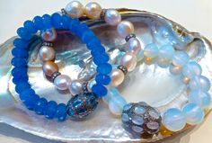 The sea is ever changing and inspiring. Here is a look for you to keep a bit of summer all year long. Beaded Bracelets, Sea, Summer, Inspiration, Collection, Jewelry, Fashion, Biblical Inspiration, Moda