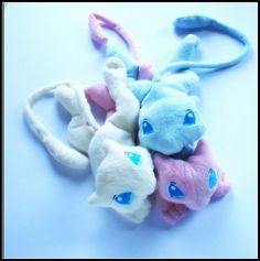 Mew Cream and pink - Pokemon - Handmade plush toy