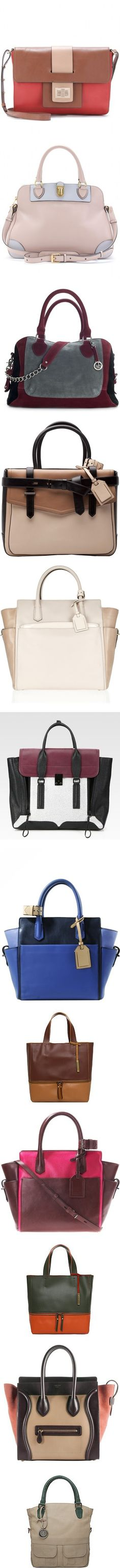 """""""colorblock bags"""" by sagramora ❤ liked on Polyvore"""