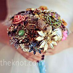 Broach bouquets are so creative and unique!