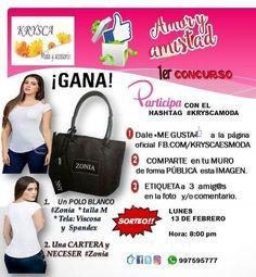 💕🌅 1er #Concurso ⚡ @kryscamoda 💞 «AMOR & AMISTAD»  📣 #GANA  2 premios de catálogo 🔝🎁 para ti o tu enamorada 👑 👕 1 POLO Y 👜1 cartera #Zonia  KRYSCA Moda (@kryscamoda) | Twitter