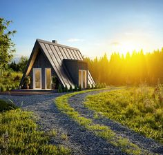 Affordable housing with a-frame kit homes