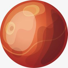 Red planet, Circular, Gules, Hand Painted Planet PNG and Vector