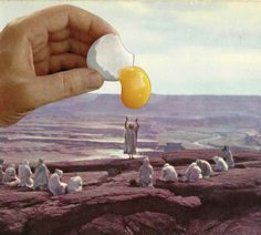 [ Collage by Lily Clark ] oh, you must be careful of those who will crack eggs on your head! Collages, Surreal Collage, Surreal Art, Collage Art, Photomontage, Illustrations, Illustration Art, Creepy Pictures, Mystique