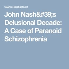 john nash case study