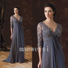 Lace Applique Plus Size Mother Of The Bride Dresses Long Evening Formal Gown New