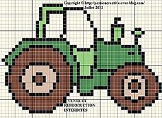 Traktor The Effective Pictures We Offer You About stricken kissenbezug A quality picture can tell yo Crochet Pixel, Crochet Cross, Crochet Chart, Knitting Charts, Kids Knitting Patterns, Cross Stitch Designs, Cross Stitch Patterns, Cross Stitching, Hand Embroidery