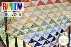 Rainbow Baby Quilt Top Tutorial for Beginners | Southern Fabric