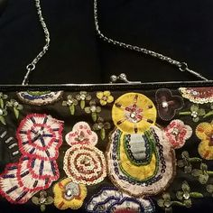 Small purse small colorful  clutch with chain handle Bags Clutches & Wristlets