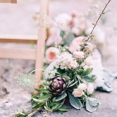STUDIO SORORES (@studiosorores) on Instagram: Two sisters with over a decade of experience in creating and curating exceptional weddings and events in the U.K. and Europe. FLOWERS. PLANNING. DESIGN.   Artichoke, rose and wild flower ceremony walkway as featured on Style Me Pretty.