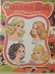 1973 QUICK CURL BARBIE & HER PAPER DOLL FRIENDS