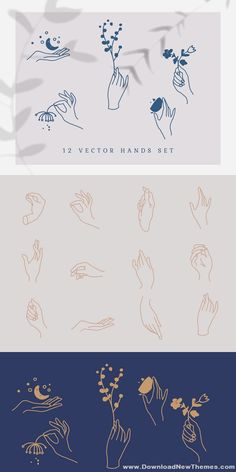 12 hand drawn hand vectors in diferrent gestures. The icon set includes hands drawings in ai, eps, svg and png. Hand Illustration, Branding Design, Logo Design, Flat Design, Web Design, Nail Logo, Drawing Hands, Vector Hand, Small Tattoos