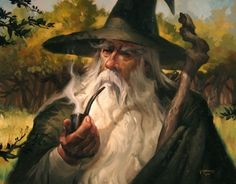 Gandalf - This art is on a set of card sleeves I have for MtG!