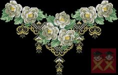 Gallery.ru / Фото #13 - Cross Stitch - pautinka-Lena Cross Stitch Tree, Cross Stitch Flowers, Cross Stitch Patterns, Crafty Craft, Rose Bouquet, Diy Flowers, White Roses, Pattern Fashion, Pixel Art