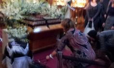 Holy Friday Vespers - shroud is laid and people come to venerate it
