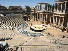 El aún en uso anfiteatro romano en Mérida, España