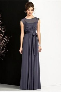 Buy 2013 Bridesmaid  Sheh Column Scoop Floor Length Chiffon Belt latest design at online stores, high quality of cheap wedding dresses, fashion special occasion dresses and more, free shipping worldwide.