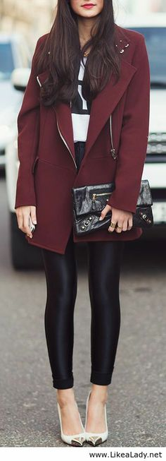 Obsessed with this coat - the color and structure!