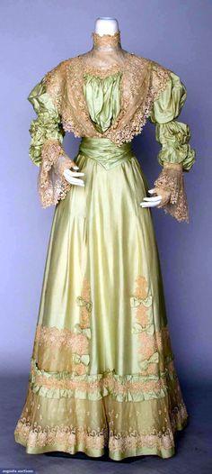 vintage dress 1898 | piece China silk dress, c. 1898