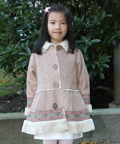 Look at this #zulilyfind! Brown Swing Coat - Infant, Toddler & Girls by Blossom Couture #zulilyfinds