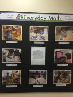 Documentation boards allow learning to become visible. Through them, families get a glimpse of our engaging, hands-on math experiences. Inquiry Based Learning, Project Based Learning, Reggio Emilia, Reggio Documentation, Maths Display, Ec 3, Emergent Curriculum, Reggio Inspired Classrooms, Learning Stories