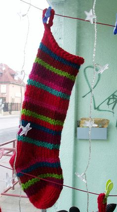 Ravelry: Quick & Easy Christmas Stocking pattern by Haley Waxberg