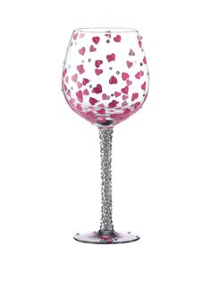 Make someone feel extra special with this Lolita Superbling Pretty Girl Extra Large Wine Glass. Covered all over in pretty pink hearts and sparkling rhinestones, this striking hand-blown wine glass was designed by US artist Lolita. The stunning design uses food grade, non-toxic paint for complete safety.Supplied in a signature Lolita coffretbox and personal message from the artist, this XL wine glass would make for a truly special birthday gift!Hand wash only recommended. Not suitable for…