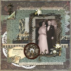 Lovely Vintage Layout  Together  By: JillyM