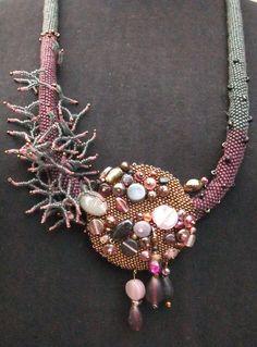 GALAXY necklace by KrisDesignFSP on Etsy  #beadwork