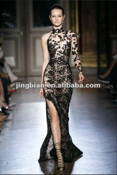 905252211bf8 Elegant one long sleeve evening dress by zuhair murad Zuhair Murad  Designer