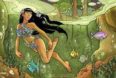 Iara Luke Cage, Cryptozoology, Mythology, Disney Characters, Fictional Characters, Folk, Comics, Disney Princess, Art