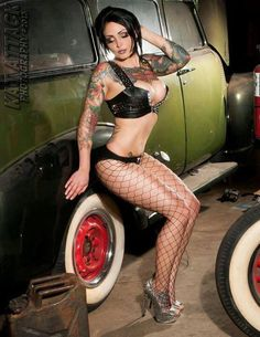 Hot Rod Pin Up