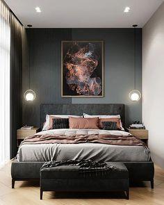 Bedroom Wall, Bedroom Decor, Wall Decor, Wall Art, Modern Bedroom, Dark Cozy Bedroom, Bedroom Brown, Eclectic Bedrooms, Contemporary Bedroom