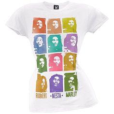 Bob Marley T Shirts, Robert Nesta, Nesta Marley, Fashion Brands, Graphic Tees, T Shirts For Women, Crazy Shirts, Lady, Mens Tops