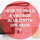 Bluetooth speaker made from old vintage radio DIY portable speaker